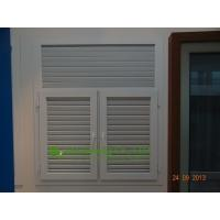 Wholesale White Color UPVC Shutter casement window For Residential Apartment,Vinyl Louvers Window from china suppliers