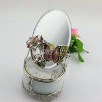 Wholesale Shinny Gifts Ladies Favor Glass Collection Box with Butterfly Design from china suppliers