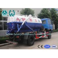 Quality Electric Control Carbon Steel Vacuum Sewage Suction Trucks With ISO Approved for sale