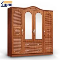 Wholesale Indoor Custom Made Louvered Closet Doors , Shutter Wardrobe Doors 4 Drawers Front from china suppliers
