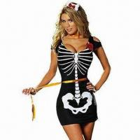 Wholesale 1 Piece Anna Rexia Costumes, Includes Skeleton Dress from china suppliers