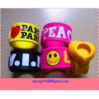 Wholesale cheap custom made silicone slap bracelet from china suppliers