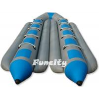 Wholesale Colorful Custom Made 0.9 PVC Tarpaulin Inflatable Banana Boat For Ten people from china suppliers