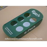 Wholesale Green plexiglass bottle holder 6 pack acrylic beer tray for counter display from china suppliers