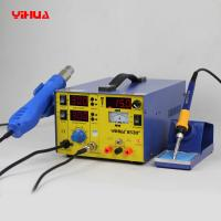 Wholesale YIHUA 853D+ 3 In 1 Hot Air Mobile Phone Rework Station , Lead Free Soldering Rework Stations from china suppliers