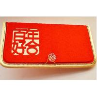 Wholesale red velvet wedding envelop from china suppliers