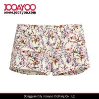 Wholesale Summer Style Five Pockets Slim Fit Regular Waist Floral Printed Shorts from china suppliers