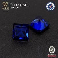 Quality high quality 10*10mm 114# spinel princess cut blue spinel synthetic diamond with factory prices for sale