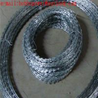 Buy cheap razor barbed wire fence used for railway and highway/Flat Type Concertina Razor Barbed Wire Fence factory price from wholesalers