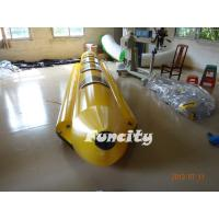 Wholesale Amusement 0.9 PVC Tarpaulin Black And Yellow Inflatable Banana Boat Fly Fish from china suppliers