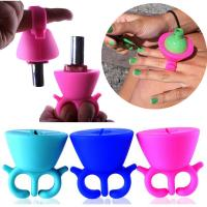 Quality 2016 newest hot sale wearable nail polish holder,silicone nail polish holder for sale