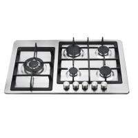 Wholesale Auto Ignition 5 Burner Gas Cooker With Stainless Steel Panel 760mm Length from china suppliers