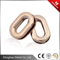 Wholesale Hot selling small metal oval eyelet ring,25.16mm light gold zinc alloy eyelets for handbag from china suppliers