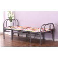 Wholesale Simple Tri Fold Portable Folding Bed Fold Away Cot With Steel Pipe Frame from china suppliers