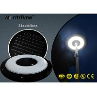 Quality Round High Lumen Solar Lights Outdoor All In One Street Light Phone App Control for sale