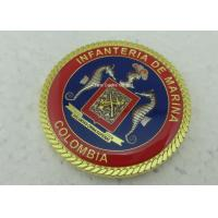 Buy cheap 3D Customized Marina Personalized Coins , Challenge Colombia Coins With Zinc Alloy from wholesalers