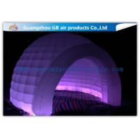Quality Multi Color Lighting Round Inflatable Air Tent Dome With Oxfor Cloth Material for sale