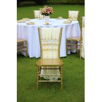 Buy cheap factory price wedding gold chaiviari chair resin popular Russia wedding party furniture from wholesalers