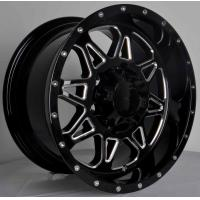 Wholesale Black Color High Strength 4x4 Car Wheels With Machine Cut Lip , PCD 139.7 - 114.3 from china suppliers