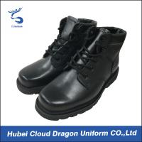 Wholesale Genuine Leather Waterproof Ankle Boots For Security Guards / Men Black Security Boots from china suppliers
