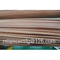 Wholesale Extrusion corrugated seamless B111 C12200 spiral heat exchanger copper fin tube from china suppliers