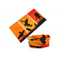 Travel Orange Red Uv Protection Buff , Soft Buff Original Headwear 100% Microfiber Polyester