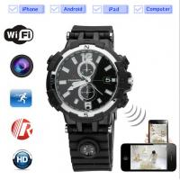 Buy cheap black color smartwatch e-watch for iphone and android withe wifi , camera,video from wholesalers