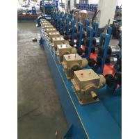 China Blue color Low Carbon Steel Round / Square / Rectangular Tube Mill Line I.D Φ450-Φ550mm on sale