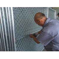 """Wholesale chain link temporary construction fence panels 6FT X 10F Mesh 2 3/8 """" x 2 3/8"""" ( 60mm x 60mm ) x 12 gauge wire from china suppliers"""