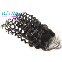 Wholesale Black Women 100% Virgin Deep Wave Human Hair Lace Closure With No Tangle from china suppliers