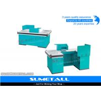 Wholesale Blue Color Commercial Retail Checkout Counter / Supermarket Cash Counter from china suppliers