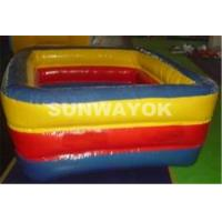 Wholesale Durable PVC Inflatable Portable Swimming Pools 0.9mm Or 0.6mm Blue from china suppliers