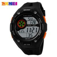 Wholesale SKMEI Large Dial Digital Mens Sport Watch 5ATM Stainless Steel Back from china suppliers