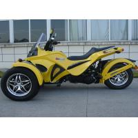 Quality Rear Disc Brake Tri Wheel Motorcycle With Two Front Wheels Water Cooled 4 Stroke for sale