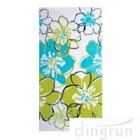 Wholesale Premium Cotton Custom Printed Beach Towels Colorful Flower OEM Available from china suppliers