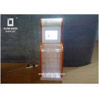 Wholesale Lcd Video Player Charity Advertising Acrylic Clear Donation Box Floor Standing from china suppliers