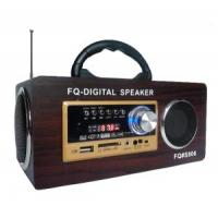 Wholesale Portable Woodiness with Switch MP3 Speaker Hi-Fi Sound Box Dark Brown #UK-806 from china suppliers