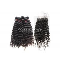 Wholesale No Shedding No Tangle Mongolian  8A Virgin Hair With Kinky Curly Lace Closure from china suppliers