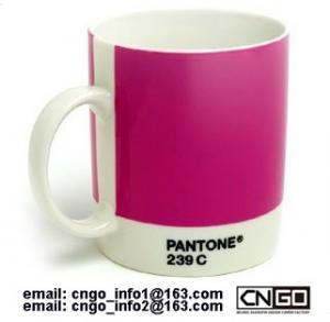 Buy cheap Export PANTONE colors cup 021C 239C Color numbers ceramic mug from wholesalers