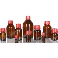 Wholesale amber reagent glass bottle with tamper evidient caps from china suppliers