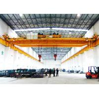 Buy cheap 30 Ton Twin Trolley Double hook Double Girder Overhead Crane for warehouse from wholesalers