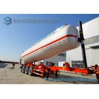 Wholesale Aluminum Alloy 5083 Tri-Axles Semi Dry Bulk Tank Trailer With Cylinder shaped from china suppliers