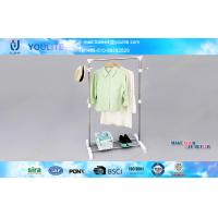 Wholesale Mobile Portable Commercial Clothing Display Rack and Stand with Pothook and Shoe Holder from china suppliers