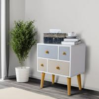 Lifewit Side End Table Nightstand Bedroom Living Room Table Cabinet with 4 Drawers