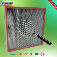 Wholesale Deep Pleated Industrial Air Filters Aluminum Foil Separator H13 Efficiency from china suppliers