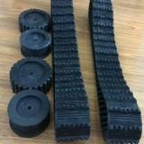Wholesale 100mm Width Rubber Track (100width*20Pitch*76Link) for Robot from china suppliers