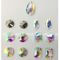 Wholesale Mixed Shapes Clear Ab Sew-on Flat Back Glass Rhinestones for evening dress from china suppliers