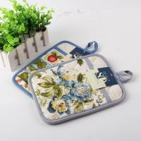 Wholesale Terry Cloth Cotton Kitchen Dual Useage Pot Holder / Kitchen Oven Mitts with Flower Printed from china suppliers