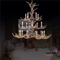 Wholesale Retro Resin Chandelier Three Layer for Hotel Lighting Project LED E14 Bulb MS-P2017 from china suppliers