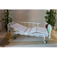 "Wholesale CE Certificate Mechanical Two Cranks Hospital Patient Bed With 5"" Double Face Castors from china suppliers"